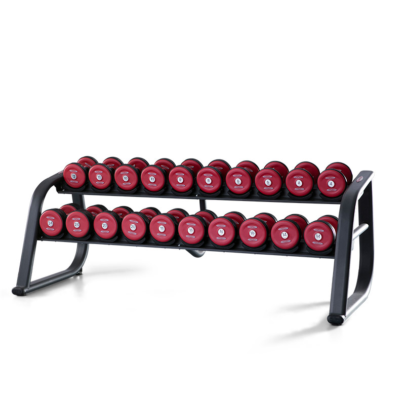 DUMBBELL RACK 220 CM RUBBERISED